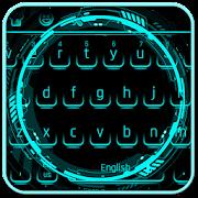 Cool Neon Blue Keyboard