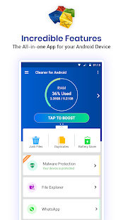 Cleaner For Android : Phone junk clean , optimizer Screenshot