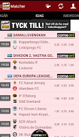 Screenshot of Sportbladet Fotboll