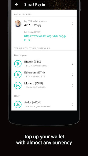 Bitcoin Gold Wallet by Freewallet screenshot 4