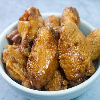 Slow Cooker Chicken Wings In Teriyaki Sauce.