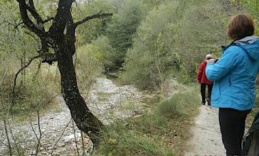 Photo: 15h15 Retour 300 ms plus bas pour remonter le Nervion vers sa source dans le canyon de Delika. Dans les environs d'Orduña, la rivière Nervión arrive depuis les terres burgalesas et tombe dans un gouffre dans la vallée étroite et profonde de Délika. Le canyon a des parois verticales et a 300 mètres de hauteur