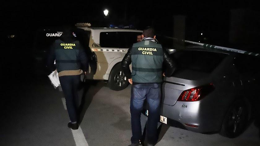 Guardias civiles en el dispositivo tras el hallazgo del cuerpo de Julen