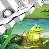 Clock Weather Widget Frogs