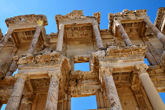Photo: the library of Celsus, home to 1200 scrolls and big windows to bring in the light