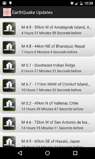 EarthQuake Updates