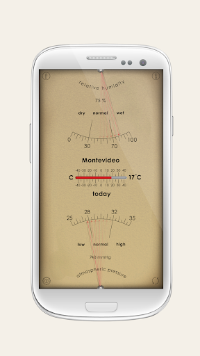 Analog Weather Station - home barometer 2.8.3 screenshots 1