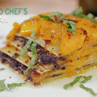 Butternut Squash and Mushroom-Olive Veggie Lasagna