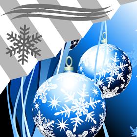 виджет часов Рождество