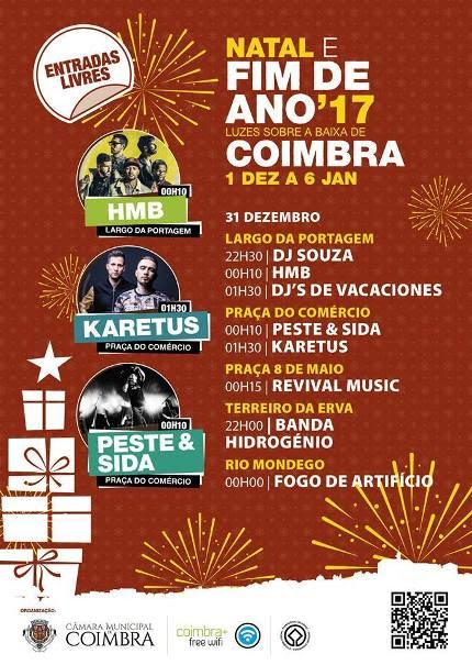Réveillon 2017-2018 em Coimbra