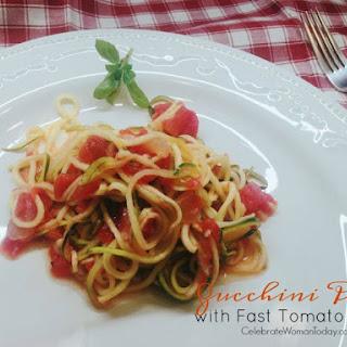 Zucchini Pasta With Fast Tomato Sauce