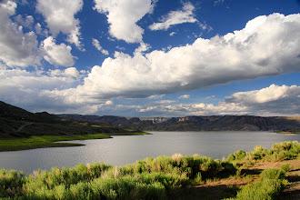 Photo: Un ciel dramatique au dessus du Blue Mesa Reservoir. Ici, nous sommes dans la partie appelée Lake Fork.