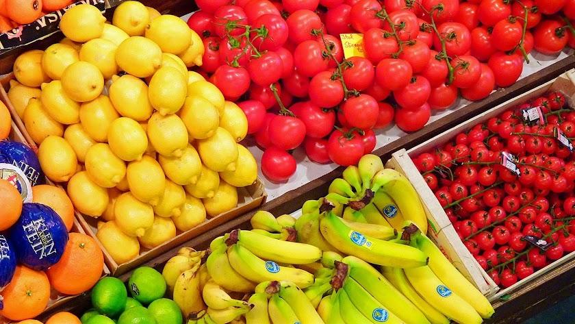Imagen de frutas y hortalizas.