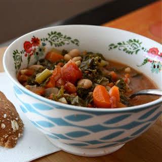 Hearty Kale, White Bean and Tomato Soup.