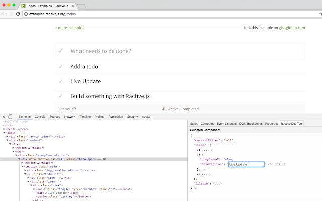 Ractive Dev Tool
