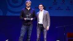 Javier A. García con el cineasta David Martín de Los Santos, premiado en Fical.