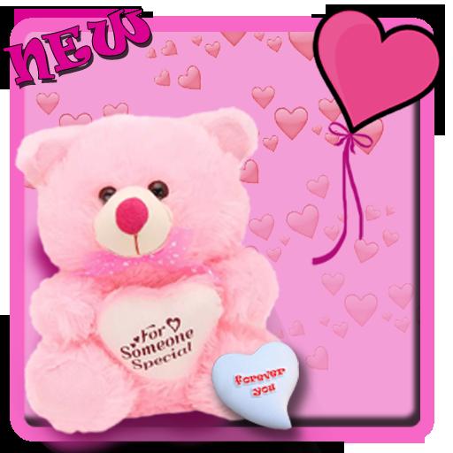 Pink teddy bear cute theme