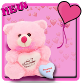 Pink teddy bear cute theme