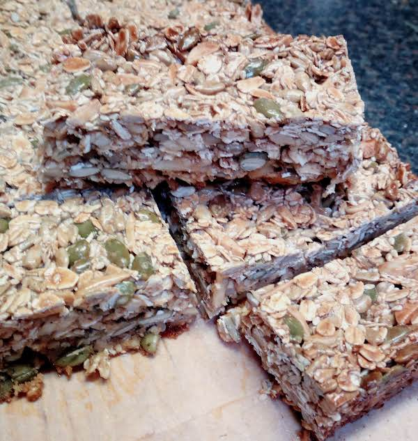 Cooked And Cooled Protein Bars, Sliced For Lunch Boxes.