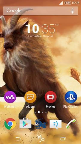 android For Xperia Theme Capricorn Screenshot 0
