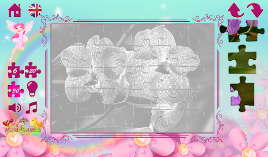 Puzzles for girls: flowers- screenshot thumbnail