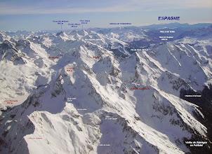 Photo: Vision annotée  au Sud-Est sur le Lurien à proximité de Fabrèges.
