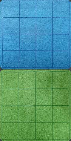 Megamat™ 1inch Reversible Blue-Green Squares (release Juli)