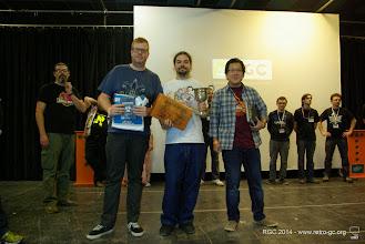 Photo: Les vainqueurs du tournoi de la RGC 2014 : 1er Gobolz, 2nd Angi, 3e Nhut