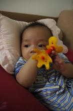 Photo: 睿睿沒興趣,麻麻逼他要玩。哈哈…