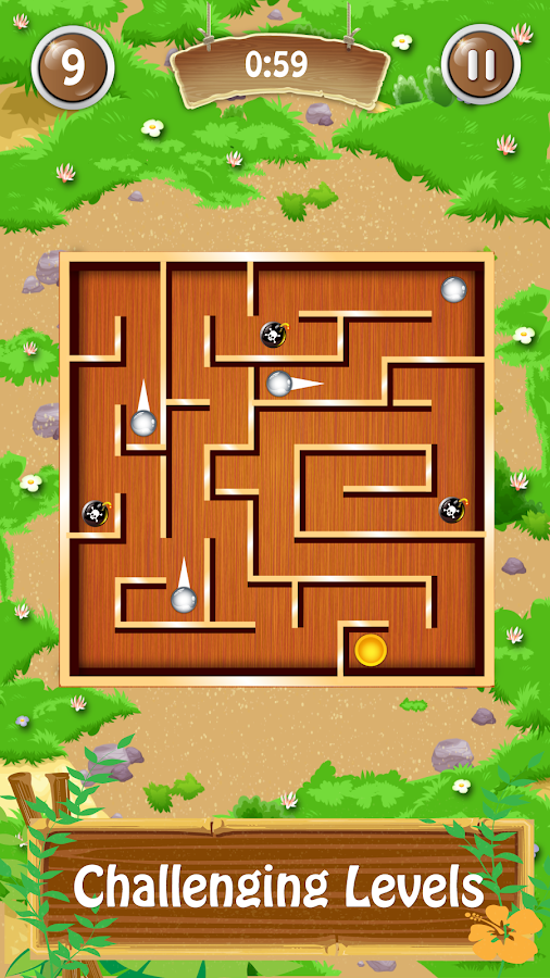 Classic Maze Ball- screenshot