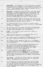 Photo: Original Club Constitution (p 2)