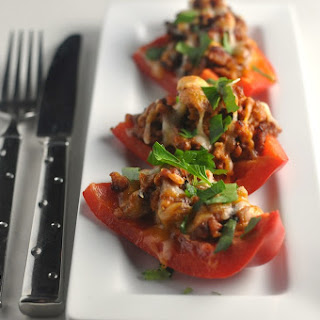 Pork Stuffed Peppers - Low Carb, Ketogenic, Gluten-Free.