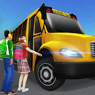 Super High School Bus Driving Simulator 3D - 2019