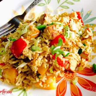 Basmati-Rice Stir-Fry with Marinated Tofu