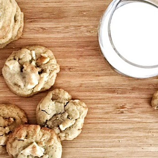 White Chocolate Chip and Walnut Cookies