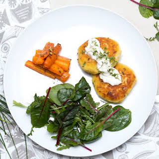 Potato patties with smoked trout | Forellen-Erdäpfel-Laibchen.