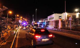 Control de la Policía Nacional a medianoche