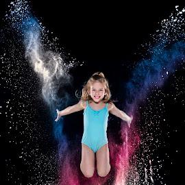 Red white and blue V jump by Patricia Konyha - Babies & Children Children Candids ( 2018, dream big dance, wichita ks, flour )