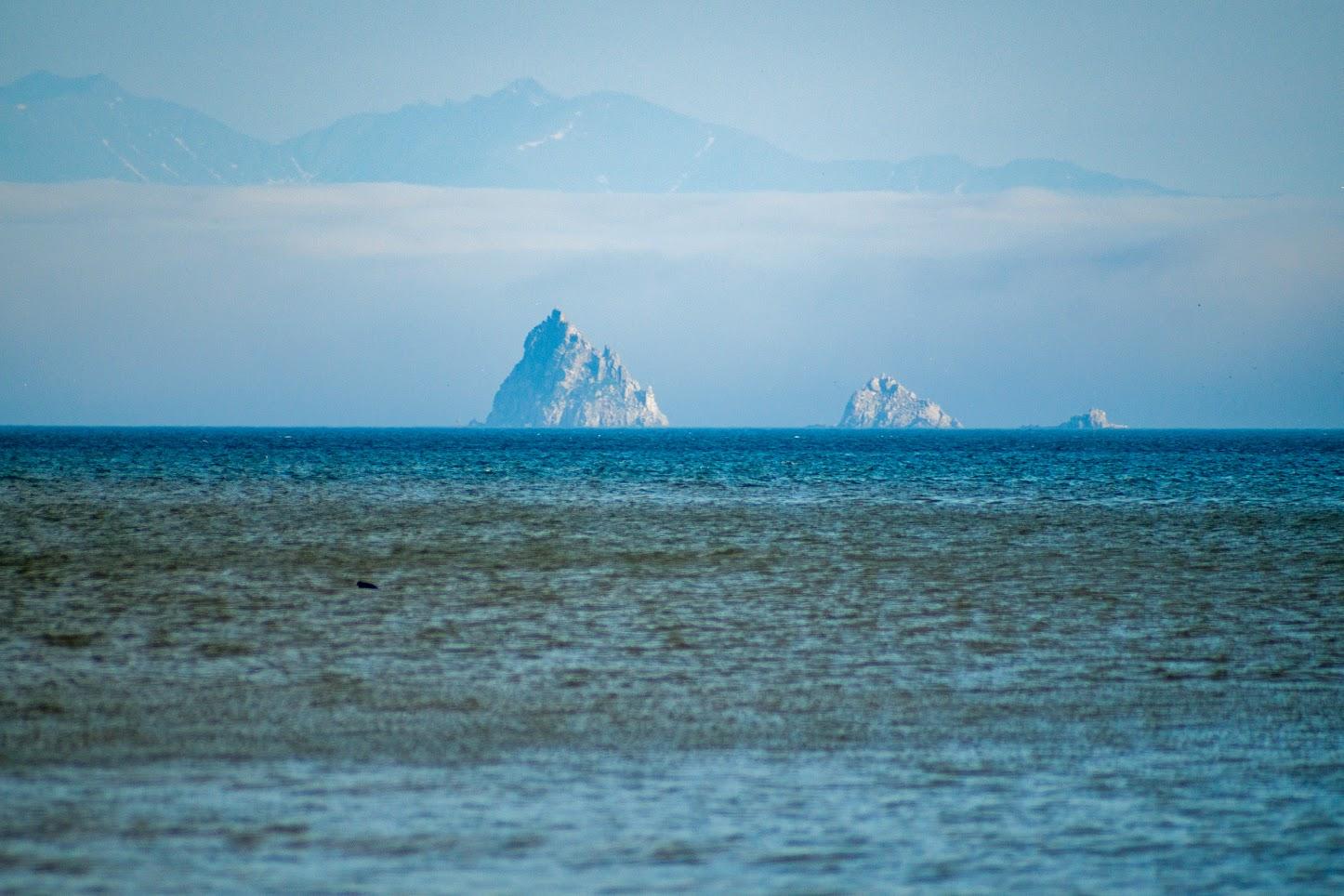 Покручены бегунки, ибо дымка... зато полуостров Кони стал виден на заднем фоне
