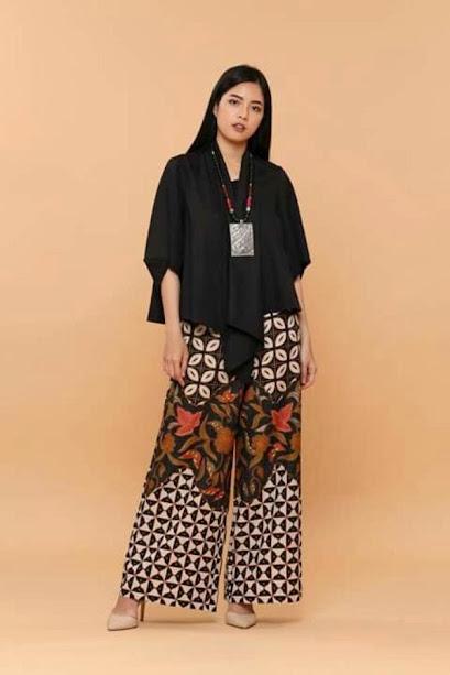 celana palazzo batik