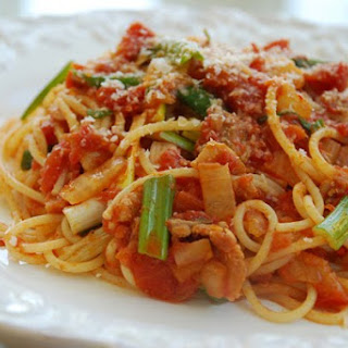 Spaghetti with Kimchi