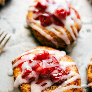 30-Minute Cinnamon Roll Cherry Danish Treats.