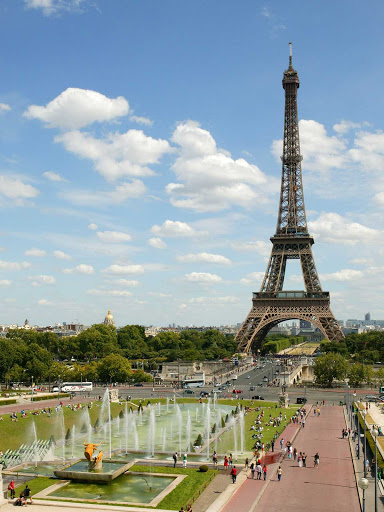 Eiffel-Tower-Paris.jpg - At 1,063 feet, the Eiffel Tower is the tallest structure in Paris.