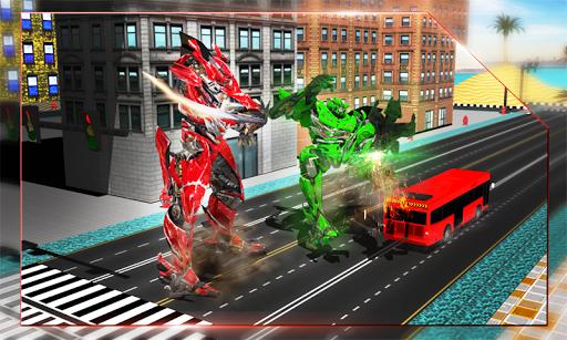 Futuristic Robot Battle 3d