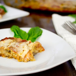 "Grain Free Lasagna with White Bean ""Ricotta"" and Pumpkin Seed Pesto"