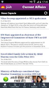 Current Affairs 2015 - screenshot thumbnail