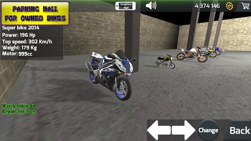 Motorbike real 3D drag racing Wheelie Challenge 3D  screenshots 2