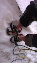 Photo: Siten prestop iz dostopnih čevljev v plezalke.