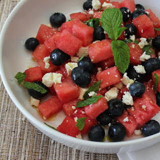 Watermelon, Blueberry & Mint Salad.