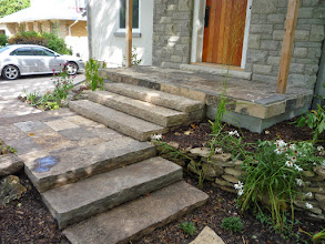 Photo: Well-made natural stone steps make a stunning entrance to this house.